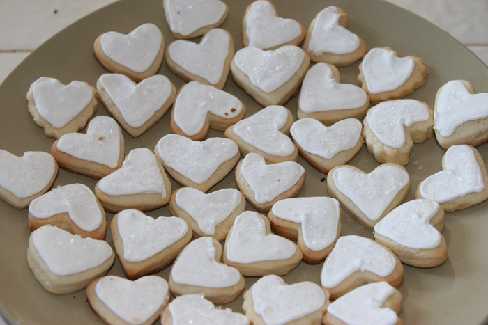 wedding favor heart cookies