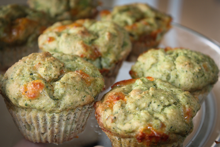 low fat broccoli cheese muffins