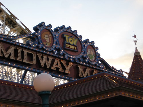 The new Toy Story ride was really cool!